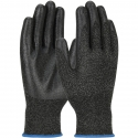 Black PolyKor™ Blended Glove, Black PVC Coated Palm, A3