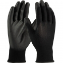 BLACK POLYESTER W/ PU COATED PALM