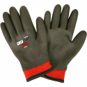 Winter Lined Nylon Glove, Fully Coated PVC Foam Grip, A3