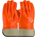 Insulated Jersey Glove, Safety Cuff, Full Orange Smooth PVC Coat