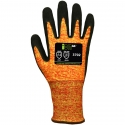 Ion A4™ Orange HPPE Glove, Sandy Nitrile Coated Palm, A4