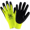 Hi-Vis Barracuda® Cut Force™ Glove, Black Nitrile Foam Grip, A8