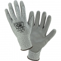 Salt & Pepper HPPE Glove w/ Polyurethane Coated Palm, A2
