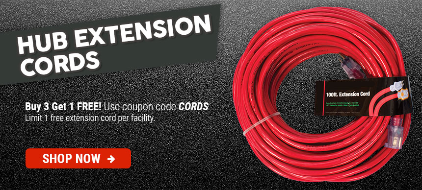 HUB Extension Cords Buy 3 Get 1 Free