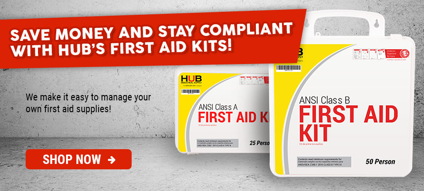 Shop HUB's First Aid Kits Today