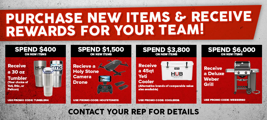 Purchase New Products & Get Rewards for Your Team